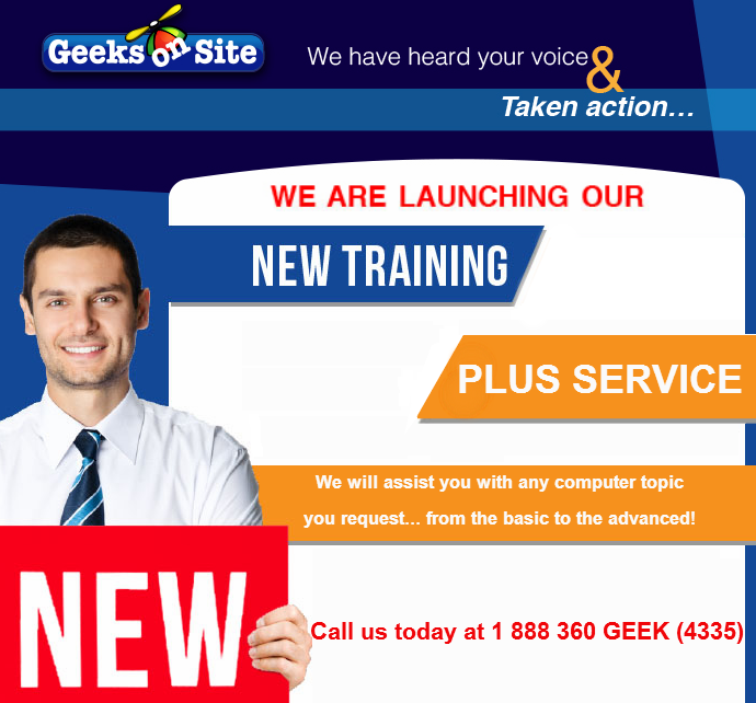 Geeks on Site Launches New Training Plus Service