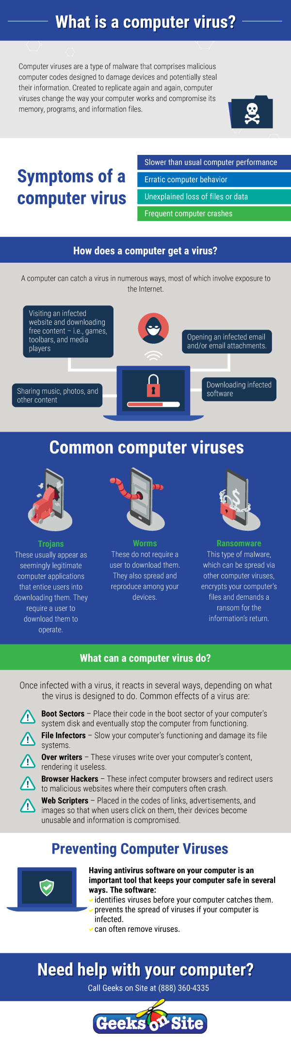 What is a computer virus Infographic